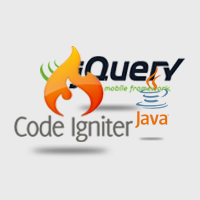Image of CodeIgniter, jQuery mobile, and java logos